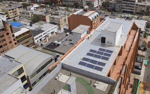 Sistema Fotovoltaico en la Superservicios, Bogotá. Foto: Superservicios